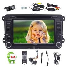 7'' Android 6.0 Quad Core Car Stereo DVD Player Double Din In Dash Head Unit GPS Navigation+External MIC/Wireless Backup Camera(China)