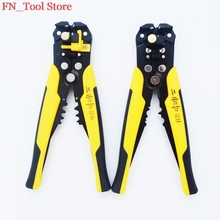 FASEN Hot sale HS-D1 Multi functional Cable wire Stripping AWG24-10 0.2-6.0mm2 straight Cutting Crimping tools Wire stripper