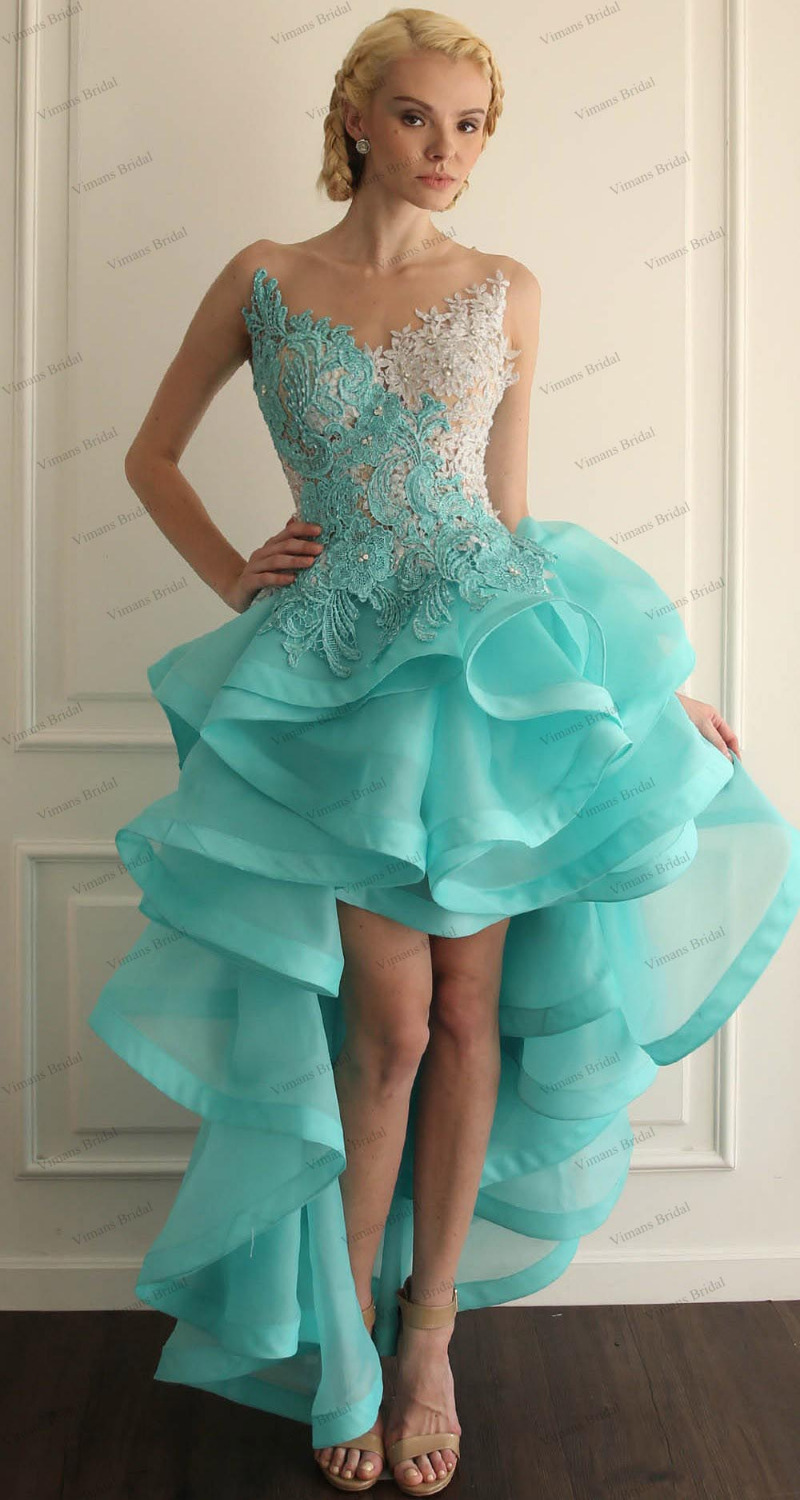 High Quality Wholesale front short long back organza prom dress ...