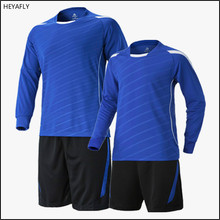 Football suit men's long sleeved sportswear training uniforms football clothes game clothes soccer jersey FREE LOGO(China)