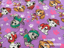 50*160cm Classic Girl flying dog fire dog stretchy cotton fabric lycra knitted jersey fabric DIY sewing T-shirts dress fabric
