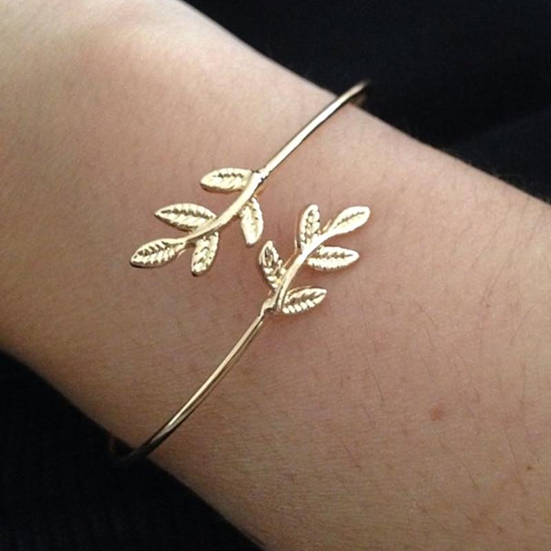 SL163-2017-Leaves-Gold-Silver-Plated-Bracelets-Bangles-Fashion-Open-Bangle-Women-Cuff-Bracelet-Pulseiras-Pulseira