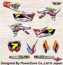 WR YZ YZF 125 250 400 450  Team Graphics Backgrounds Decals Stickers ACB Motor cross Motorcycle Dirt Bike MX Racing Parts