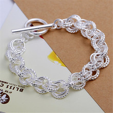 Promotion hot silver plated bracelets new Cute women lady wedding nice fashion jewelry Pretty Christmas gifts H023(China)