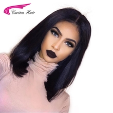 Carina Hair Malaysian Remy Human Hair Full Lace Wigs Middle Part Glueless Short Bob Wig With Baby Hair(China)