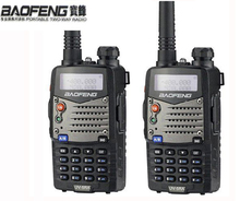 128CH Talk Black Dual Band Radio Comunicador 2pcs Walkie Talkie Pair Baofeng Uv-5ra For Bao Feng Uv-5r Upgrade CB HAM Radio Vhf(China)
