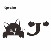 5 pcs Diy black cat switch stickers wall sticker for kids rooms funny home decor home decoration accessories posters wall decal