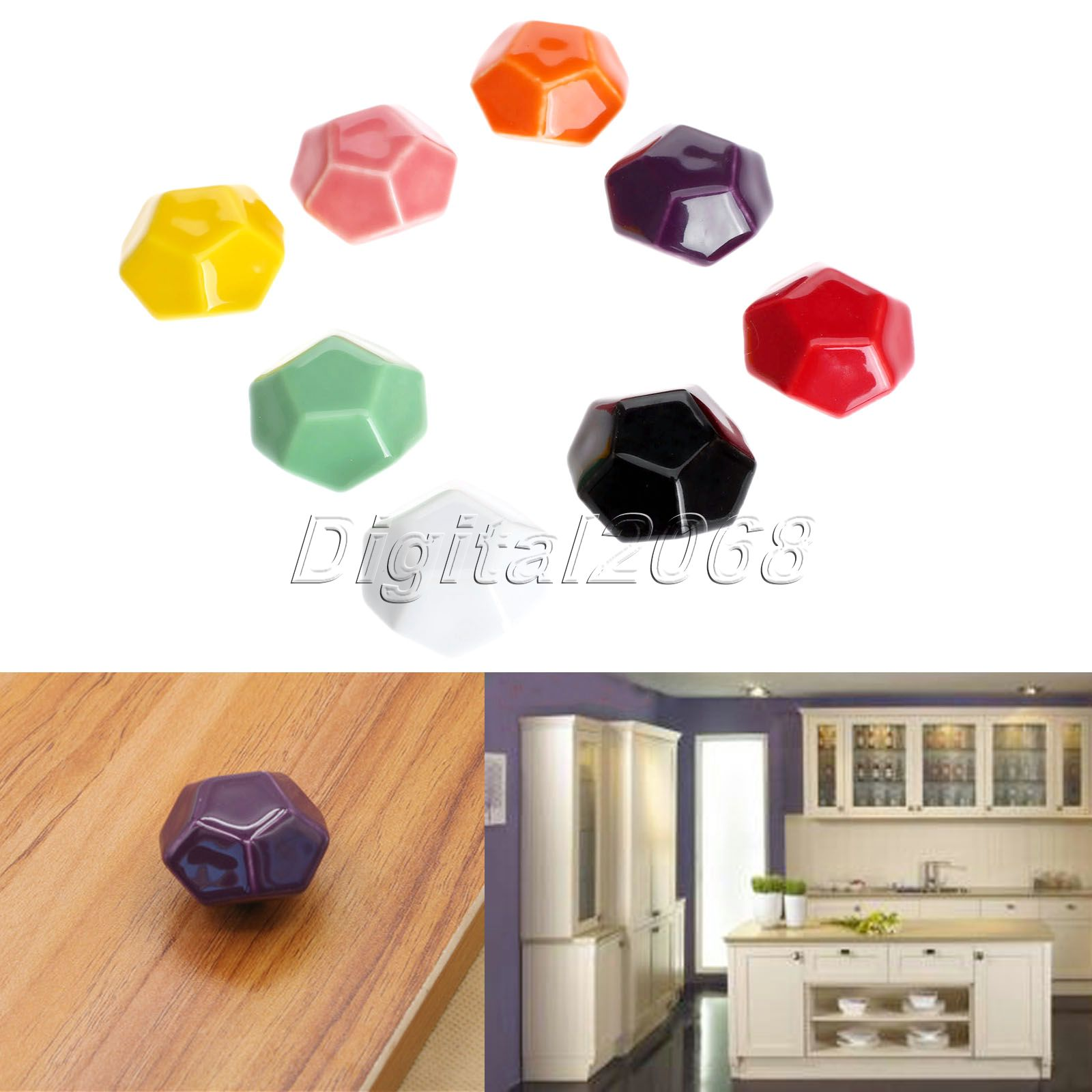 Diamond 8 Colors Vintage Retro Ceramics Drawer Knob Cabinet Cupboard Door Pull Handle Furniture Decor Kitchen Knobs and Handles<br><br>Aliexpress
