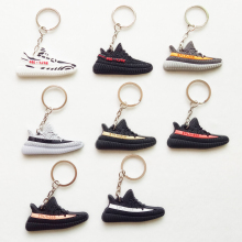 Mini Silicone YEEZY BOOST 350 V2 Shoes Keychain Bag Charm Woman Men Kids Key Ring Key Holder Gift SPLY-350 Sneaker Key Chain(China)