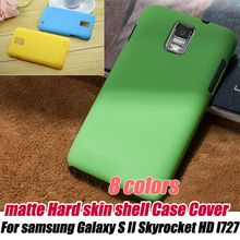 frosted Matte Hard skin shell Case Cover For Samsung Galaxy S2 S II Skyrocket i727 At&t,free shipping(China)