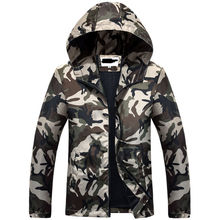 Free Shipping 2017 Hot Sale Mens Outwear Thin Jackets Coats Fashion Camouflage Jacket Summer Male Hooded Sunscreen Coat Cheap(China)