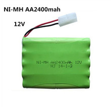 12v 2400mah ni-mh bateria 12v rc battery nimh battery pilas recargables 12v pack 10x aa size ni mh for rc car toy battery(China)