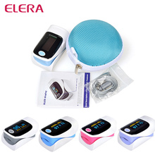 ELERA OLED Display  Fingertip Pulse Oximeter WITH CASE oximetro de dedo oximetro pulse oximeter alarm setting 5 color