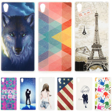 Fashion Personality Painted patterns Soft TPU Back cover For Sony Xperia Z5 Premium Cell Phone Protective Case for Sony Z5 Plus