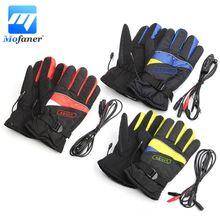 Mofaner Waterproof Motorcycle Electric Heating Gloves Motorbike Bicycle Winter Warmer Gloves Outdoor Ski Li-ion Battery Gloves(China)