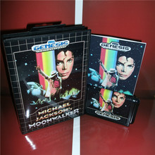 Michael Jackson's Moonwalker US Cover with box and manual For Sega Megadrive Genesis Video Game Console 16 bit MD card(China)