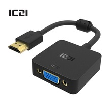ICZI HDMI to VGA Adapter 1080P @60Hz Male to Female VGA HDMI Converter for Macbook Laptop Displays Monitors Projectors and More