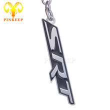 Fashion Metal Car Keychain Keyring Auto emblem Key Chain Ring For Chrysler 300C Grand Voyager Jeep Dodge challenger SRT 6 7 8 9(China)