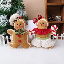 JETTING The unicorn Gingerbread man Christmas Hanging Pendant Christmas Tree Ornaments cookie doll plush Xmas tree widgets