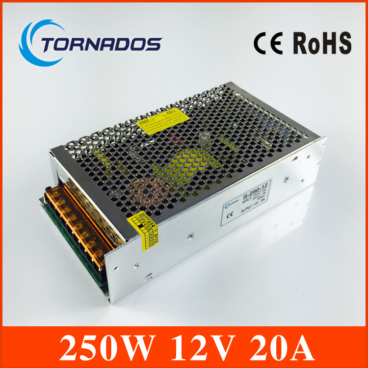 switching power 12V 20A 240W Switching Power Supply Driver for LED Strip Lights AC 110-220V Free Shipping<br>