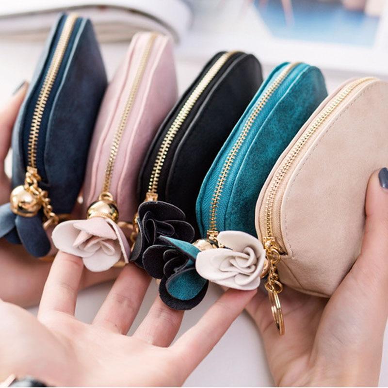 Coin Purse Leaf Flower Wallet Buckle Clutch Handbag For Women Girls Gift