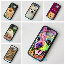 Pomeranian puppy dog 11 case cover for Samsung galaxy S3 S4 S5 S6 S6 Edge S7 Edge note 3 4 5 #GT114