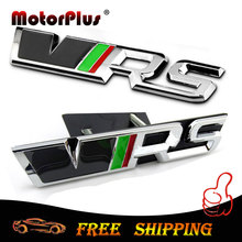 3D Sticker VRS Trunk Emblem Decal Grille Chrome RS Badge Car Styling For SKODA Fabia Octavia Rapid Superb Yeti Roomster Citigo