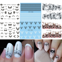 1 Sheet Flower/Lace/Necklace Nail Art Water Transfer Stickers Beauty Full Wraps Manicure Decor Fashion Accessories LASTZ249-272(China)