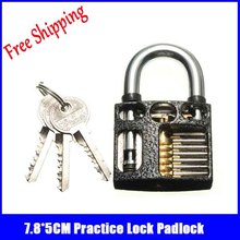 10pcs/lot wholesale 7.8*5CM black Practice Lock Locksmith Training Skill Tools professional locksmith supplies for beginner(China)