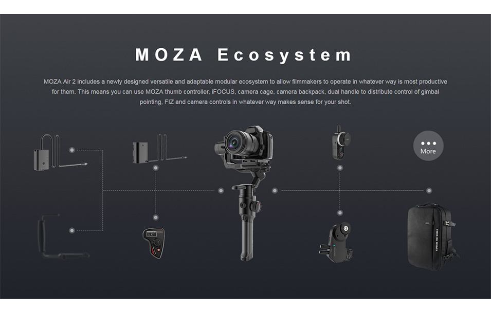 DIGITALFOTO Moza Air 2 Maxload 4.2KG DSLR Camera Stabilizer 3 Axis Handheld Gimbal for Canon Nikon PK DJI Ronin S Zhiyun Crane 2 14