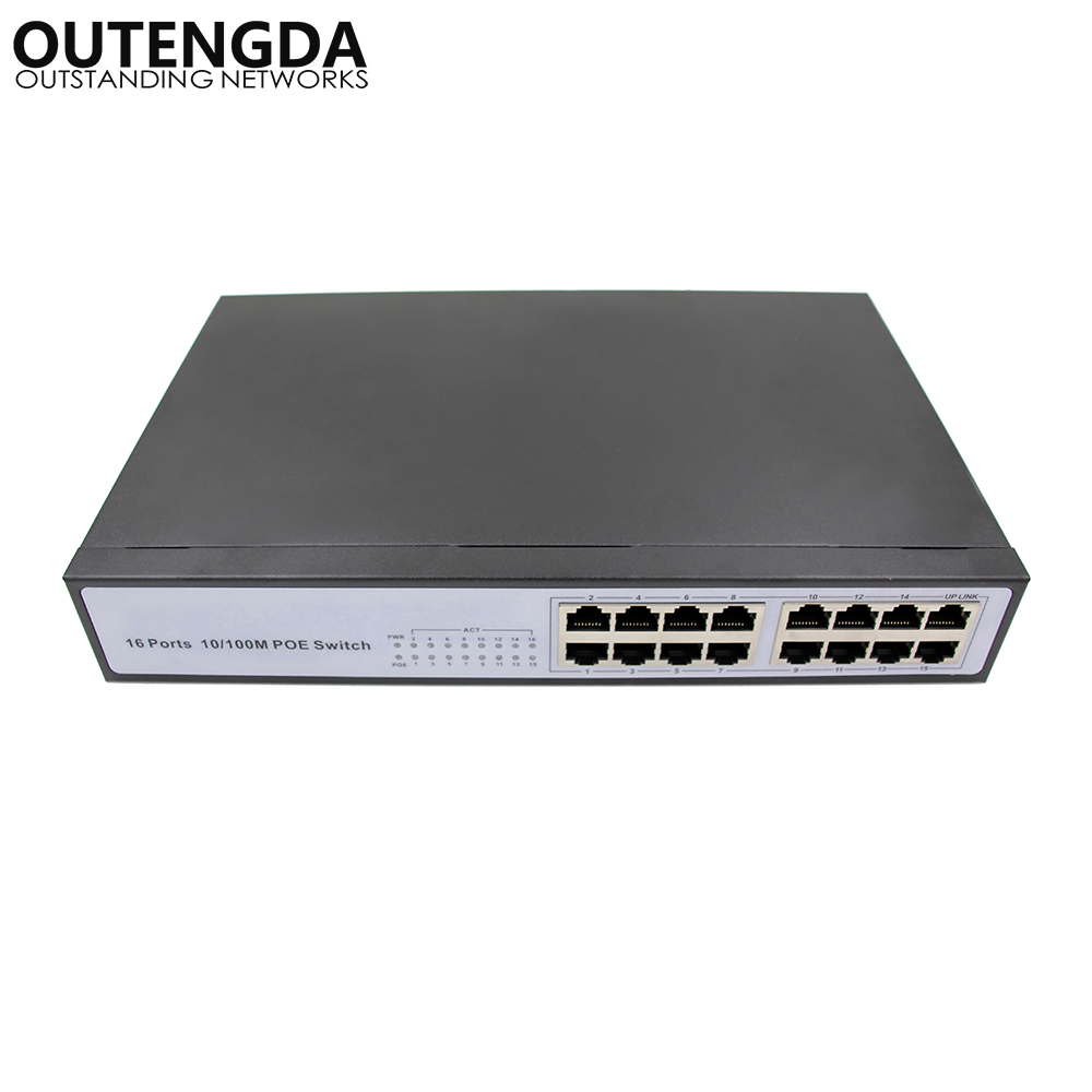 High quality best cctv Network Switch 16 port poe switch with built-in power 150w
