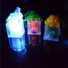 Romantic Flashing Gift Box LED Lamp Colorful Flash Night Light Party Decorations Party Favors Halloween Christmas(China)