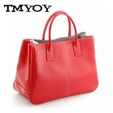 TMYOY Quality women Top-Handle Bags PU Leather Handbags Solid Tote casual Bolsas Female Ladies candy color Women hand Bags VS024(China)
