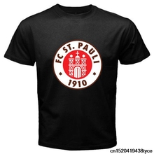 Jzecco Hot Selling 100% Cotton Tee Shirts New St Pauli Fc Sankt Pauli Red Logo Men'S T Shirt(China)