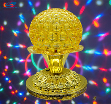 3W Mini RGB LEDsmall sun lotus block pineapple lamp colorful rotary laser stage light bar KTV lamp Christmas Stage Lights Show