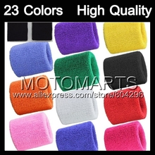 4 Sets/Lot 12 Colors 100% Cotton Wristbands Sweatbands Women Men Children Wristband Wrist Sweatband Sweat Band Brace Wristband(China)