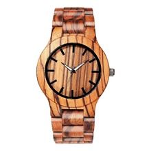 New Fashion Wood Hand Made Watches Men Simple Clock Men Wooden Wristwatch Relogio Feminino Masculino