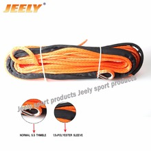 Free shipping 10mm*12m 16534lbs UHMWPE synthetic winch rope for ATV/UTV/SUV/4X4/4WD/Off-road tow strap racing(China)