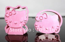 2pcs/set Food Grade Plastic Hello Kitty Cookies Cutter/Stamps Tool