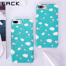 LACK Ultra thin Hard PC Frosted Phone Case For iphone 7 Case Blue Sky White Clouds Paper Plane Cover For iphone7 7 Plus Cases(China)