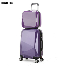 TRAVEL TALE 14,20,24 inch solid women luggage Set,trolley Travel Bag Set, travel suitcase, spinner Luggage,pc