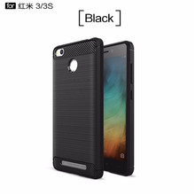 The hottest and most popular Carbon Fiber Case For Xiaomi redmi 3s Soft  Cover Antiskid mobile phone shell Practical