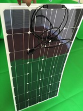 Highly Recommend solar panel 100W 12V best china factory price  flexible solar panel A grade monocrystalline solar cell