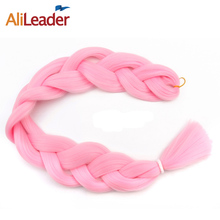 AliLeader Kanekalon Jumbo Braid Hair 36 Inch 165G Crotchet Braids Pure Color Expression Braiding Hair Black Blond Pink 1pcs/lot
