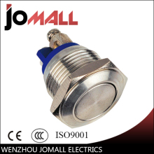 16mm LED light metal push button switch with Flat round(China)