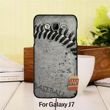 Diy Colorful Printing Drawing Plastic  phone case For case GALAXY J7 2015  play baseball ball