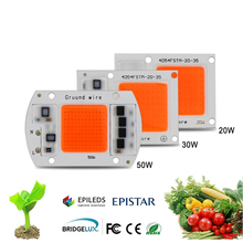 2pcs Hydroponice AC 220V 20W 30W 50W LED Grow Light Chip Full Spectrum 380nm-840nm For Indoor LED Grow Light Plant(China)