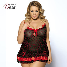 Comeondear Multi Color Babydoll Women Sexy Lingerie RK7059 Wholesale And Retail Nightwear Women Plus Size Fantasias Sexy Erotic