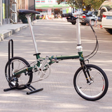 "Chrome Steel Folding Bike 16""  Minivelo Mini velo Bike Urban Commuter Bicycle with V Brake Foldable 9 Speed Fnhon Post Green(China (Mainland))"