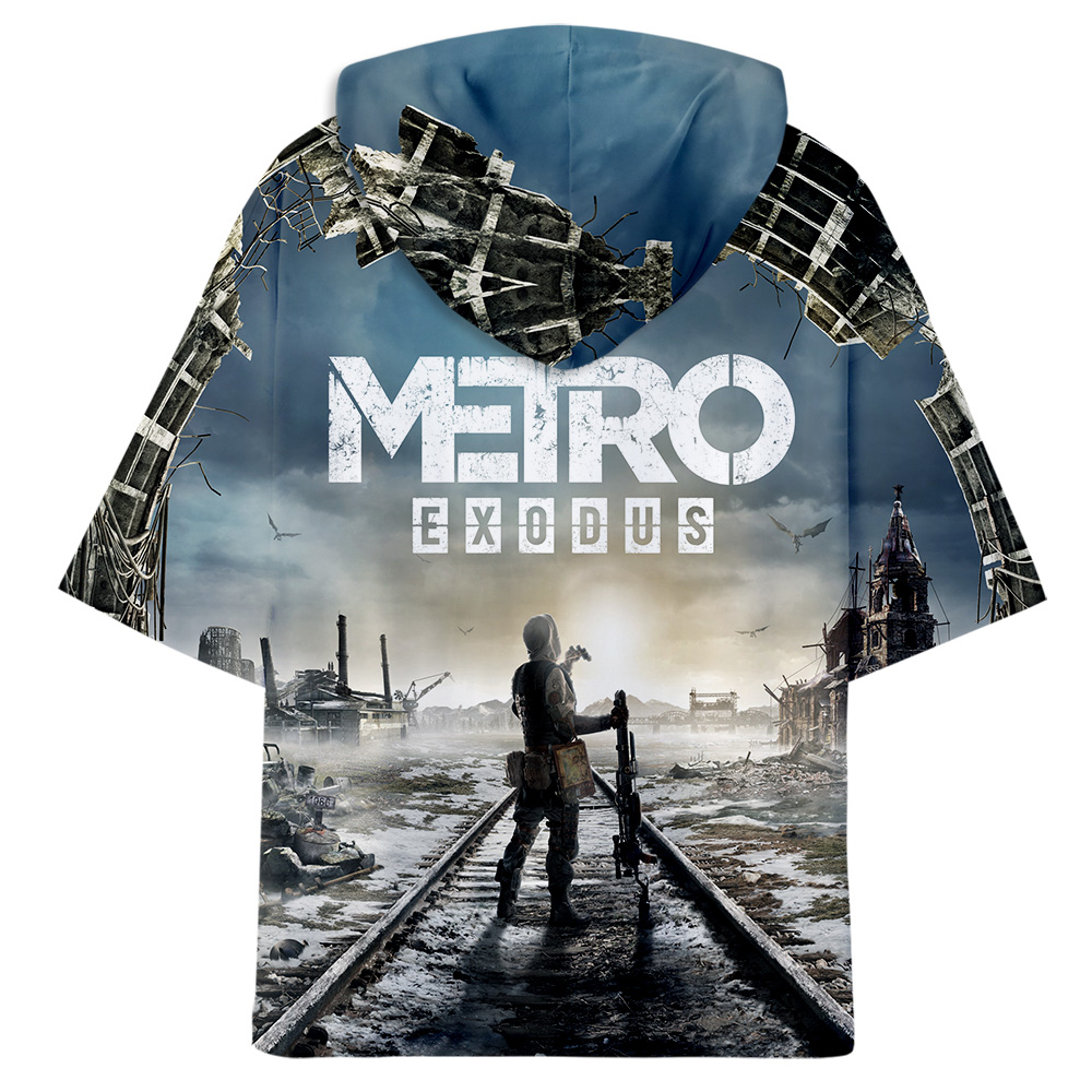 aikooki 3d medrto exodus oversized cool hoodie korean mens T-shirts girls 100% cotton round neck Short Sleeves Tee